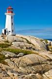 Erbeleuchtturm auf einem Strand. Lizenzfreie Stockfotos