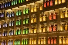 Erbfenster, Singapur lizenzfreies stockfoto