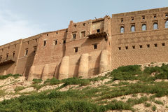 Erbil,伊拉克城堡。 库存图片