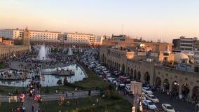Erbil citadel stock footage