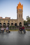 Erbil. Iraq - March 7, 2016: Famous and small square in  city near the famous citadel