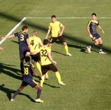 Erbil team players. Playing at Firanso hariri football stadium at erbil city Stock Image