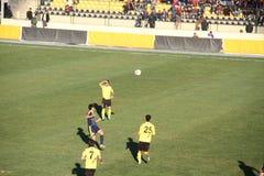 Erbil team players. Playing at Firanso hariri football stadium at erbil city Royalty Free Stock Photos