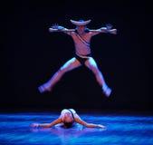 Erbjud upp en offer-identitet av dentango dansdramat Royaltyfri Bild