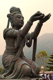 Erbjuda av den sex Devasen, Po Lin Monastery, Hong Kong Royaltyfria Bilder