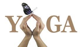 Erbjuda dig yoga Arkivfoto