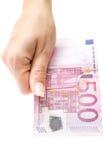 erbjuda för euro 500 Fotografering för Bildbyråer