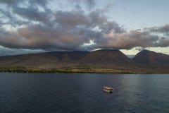 Erbjuda fartyget i Lahaina Fotografering för Bildbyråer