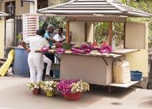 Erbjudande blommor, Sri Lanka Fotografering för Bildbyråer
