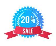 Erbjudande 90 för etikett Sale för högvärdig befordran specialt stock illustrationer