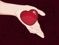 Erbjudande hjärta Fotografering för Bildbyråer
