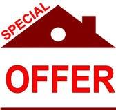Erbjudandeetikett som litet hus stock illustrationer