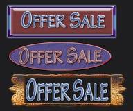 erbjudandeförsäljning vektor illustrationer