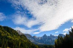 Erblassen Sie von San Martino im Herbst Stockbild