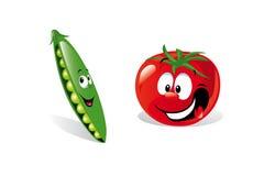 Erbse und Tomate Stockbilder