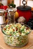 Erbsen-Salat mit HimbeereVinaigrette Lizenzfreies Stockfoto