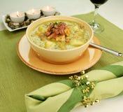 Erbsen-und Schinken-Suppe Stockfotos