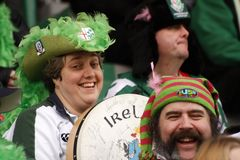 ERC HEINEKEN CUP 2008 - Benetton gegen London-Iren Lizenzfreies Stockbild