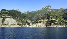 Erchie. On the Amalfi coast from sea Stock Images