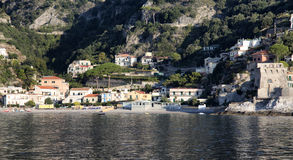 Erchie. Located immediately after Cetara, is one of the most small towns of the Amalfi coast Stock Photos