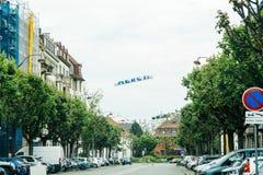 Erci thank you large banner across the street during Coronavirus Covid 19