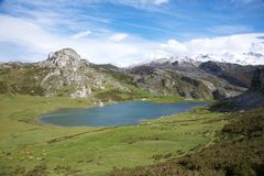 Ercina lake in Asturias Stock Photo