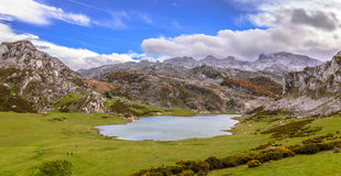 Ercina Lake from La Picota Royalty Free Stock Photography