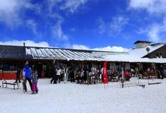 Erciyes滑雪胜地 免版税库存照片