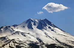 Erciyes mountain and clouds Royalty Free Stock Photo