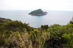 ercole波尔图 小岛 意大利 免版税库存照片
