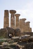 Ercole świątynia Agrigento, Sicily - Obrazy Stock