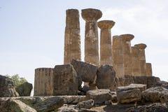 Ercole świątynia Agrigento, Sicily - Obraz Royalty Free