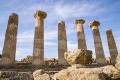 Ercole świątynia Agrigento, Sicily - Obraz Stock