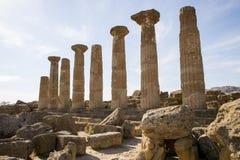 Ercole świątynia Agrigento, Sicily - Fotografia Royalty Free