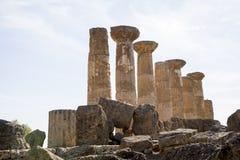 Ercole świątynia Agrigento, Sicily - Zdjęcia Royalty Free