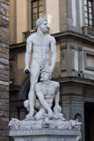 Ercole and Caco. Statue in Florence, Italy Stock Images