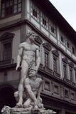 Ercole e Caco, Baccio Bandinelli, Piazza della Signoria, Firenze, Italy. Statue Hercules, winning Cacus on the Signoria square. Florence. Italy Stock Images