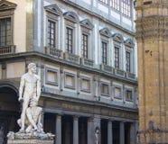 Ercole e galleria di Cacus Uffizi Immagine Stock Libera da Diritti