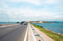 ercole porto santo stefano porto Orbetello Италия Стоковые Изображения RF