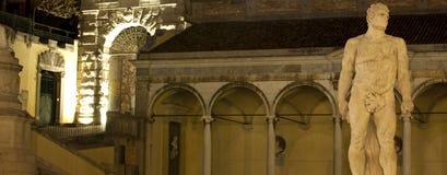 Ercole statue in Piazza Libertà, Royalty Free Stock Photography