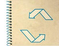 Ercycle Notizbuch auf weißem Hintergrund stockfotografie