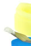 Erdölgelee getrennt auf Weiß Lizenzfreies Stockbild