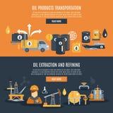 Erdölindustrie-Fahne Lizenzfreie Stockfotos