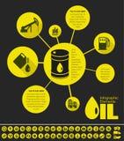 Erdölindustrie Infographic-Schablone Stockbilder