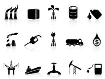 Erdölindustrieikone Stockfotografie
