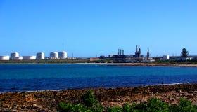 Erdölraffinerie am Hafen Bonython Lizenzfreies Stockfoto
