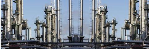 Erdölraffinerie-Panoramablick lizenzfreie stockbilder