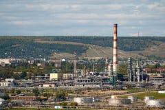 Erdölraffineriefabrik Lizenzfreies Stockbild