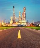 Erdölraffineriefabrik Stockfoto