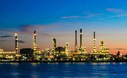 Erdölraffineriefabrik in Thailand Stockbilder